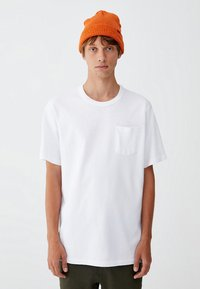 PULL&BEAR - MIT BRUSTTASCHE - T-shirt - bas - white - 0