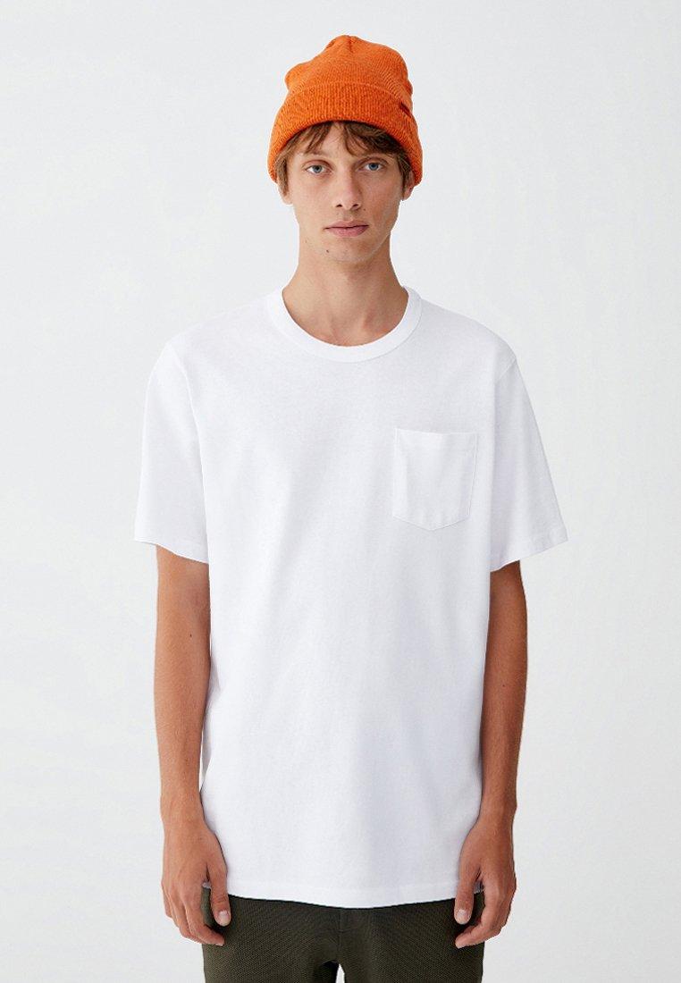 PULL&BEAR - MIT BRUSTTASCHE - T-shirt - bas - white