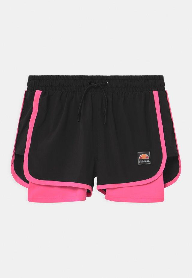 MAYLIA - Sports shorts - black/neon pink
