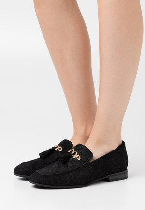 VELLUTO STAMPA FILIPPA SLIP ON - Slip-ons - black