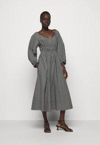 Proenza Schouler White Label - YARN DYE PLAID DRESS - Day dress - black/white - 0