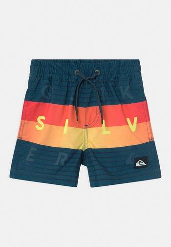 WORD BLOCK VOLLEY BOY - Swimming shorts - majolica blue