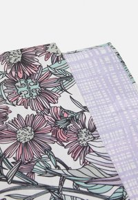 Tory Burch - DOUBLE SIDED HIBISCUS SQUARE - Foulard - white/lavender - 1