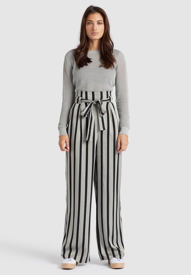 EIVOLA - Pantaloni - black grey