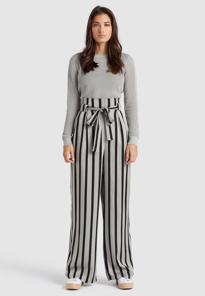 khujo - EIVOLA - Trousers - black grey
