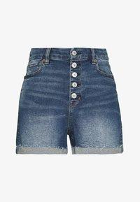 American Eagle - CURVY MOM  - Denim shorts - indigo nightfall - 0