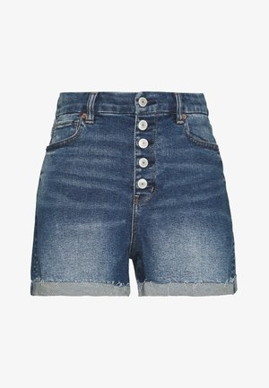 CURVY MOM  - Denim shorts - indigo nightfall