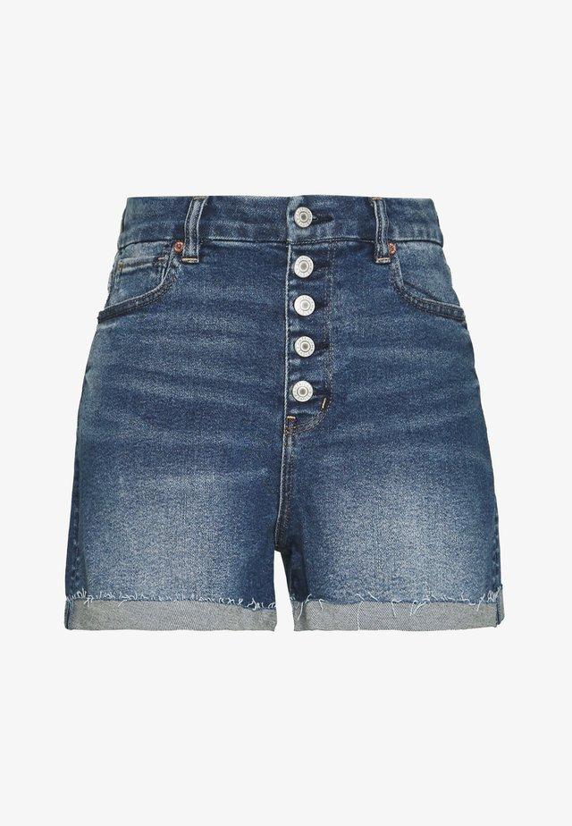 CURVY MOM  - Denim shorts - indigo nightfall