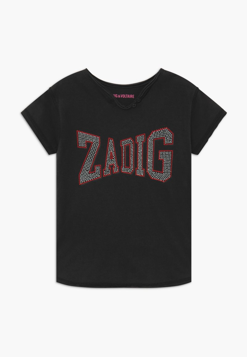 Zadig & Voltaire - SHORT SLEEVES TEE - Print T-shirt - charcoal grey