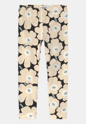 LAIRI MINI UNIKOT - Leggings - black/beige/light green