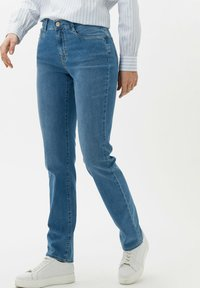 BRAX - STYLE MARY - Slim fit jeans - used light blue - 0