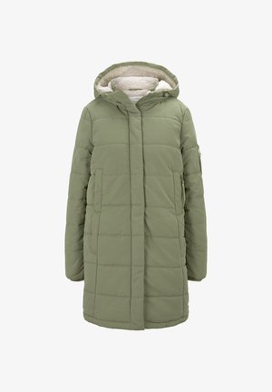 Winter coat - dull olive green