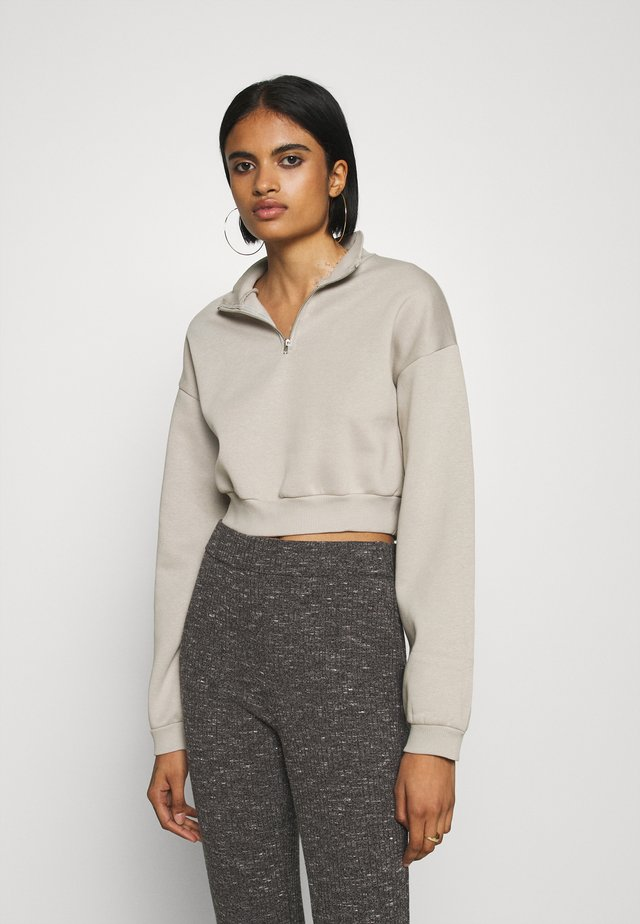 CROPPED ZIP - Sweatshirt - dove