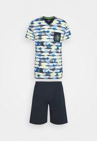 TOM TAILOR - SHORTY V-NECK - Pyžamo - dark blue - 0