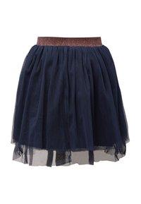 TOM TAILOR - Pleated skirt - black iris|blue - 1