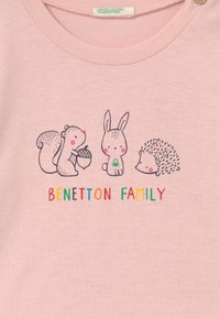 Benetton - Top sdlouhým rukávem - pink - 2