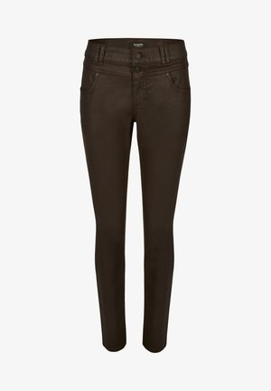 BUTTON' MIT PATCH - Trousers - braun