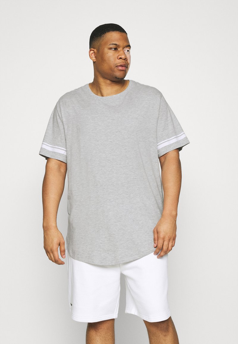 Only & Sons - ONSMATT LIFE LONGY STRIPE   - Print T-shirt - light grey melange