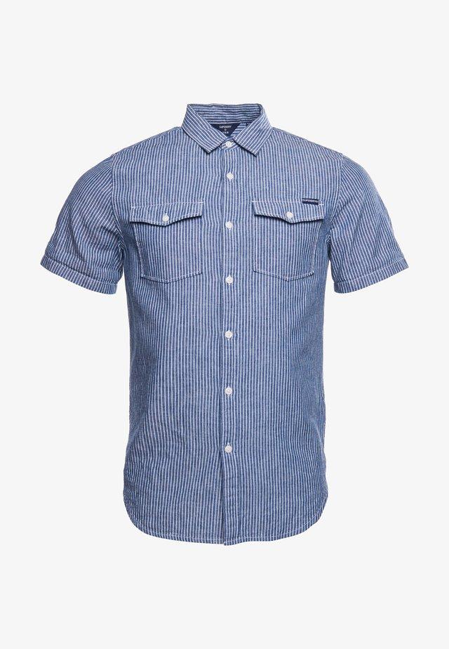 Overhemd - indigo linen stripe