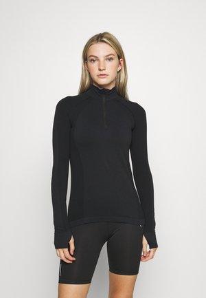 ATHLETE SEAMLESS HALF ZIP LONG SLEEVE  - Langarmshirt - black