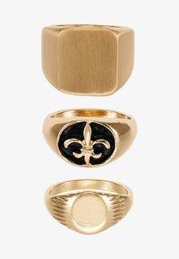 Burton Menswear London - SIGNET 3 PACK - Ring - gold-coloured - 3