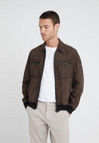BOSS - JOAST - Leather jacket - brown - 0
