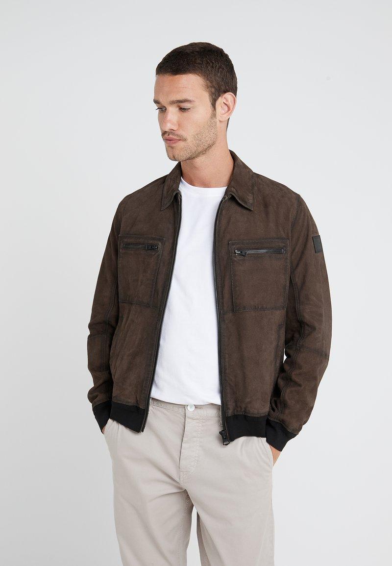BOSS - JOAST - Leather jacket - brown