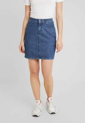 LAURA SKIRT - Denim skirt - dark