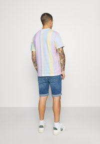 Tommy Jeans - STRIPE TEE - Printtipaita - romantic pink - 2