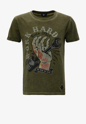 T-shirt print - olivgrün