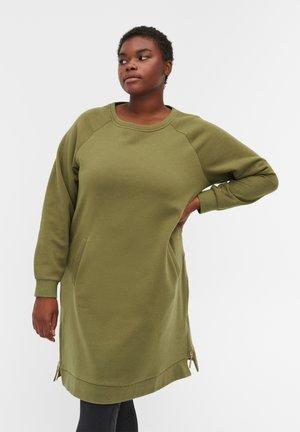 Denní šaty - olive drab