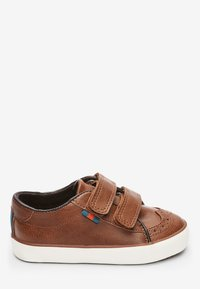 Next - TAN BROGUE STRAP TOUCH FASTENING SHOES (YOUNGER) - Baby shoes - brown - 4