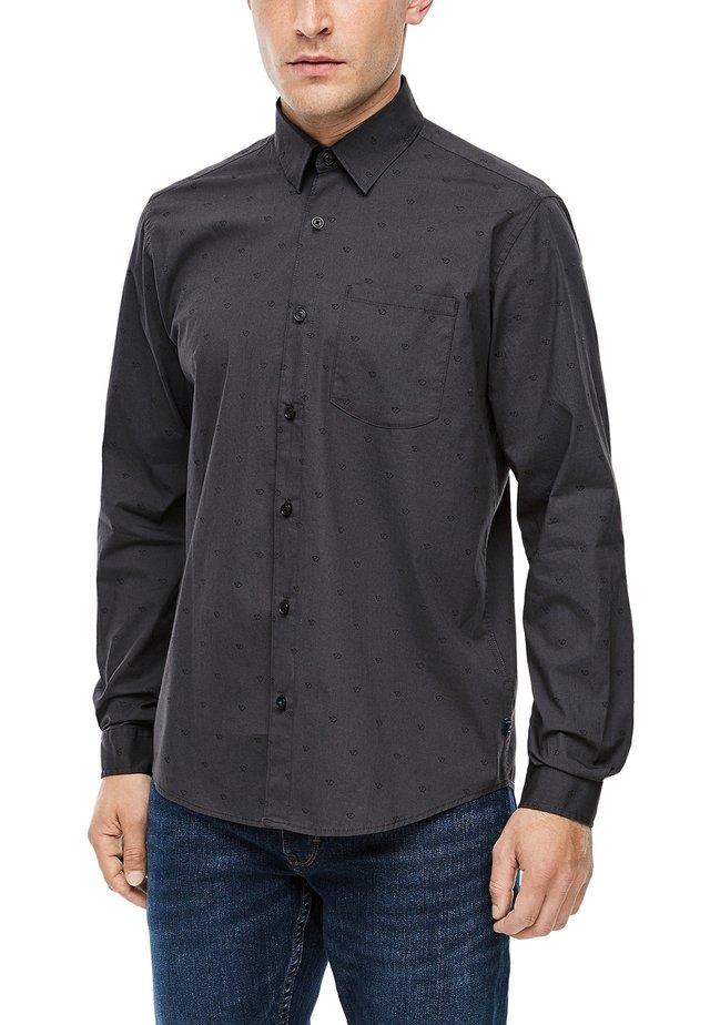 MIT ALLOVER-PRINT - Shirt - grey aop