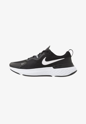 REACT MILER - Juoksukenkä/neutraalit - black/white/dark grey/anthracite