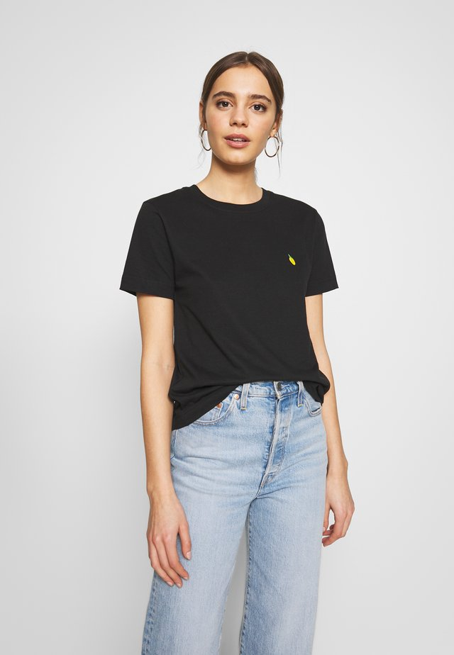MYSEN LEMON - T-shirt z nadrukiem - black