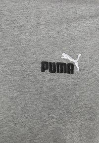 Puma - EMBROIDERY LOGO TEE - T-shirts basic - medium gray heather - 4