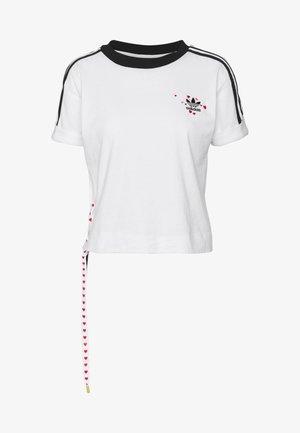 TREFOIL SHORT SLEEVE TEE - T-shirt z nadrukiem - white