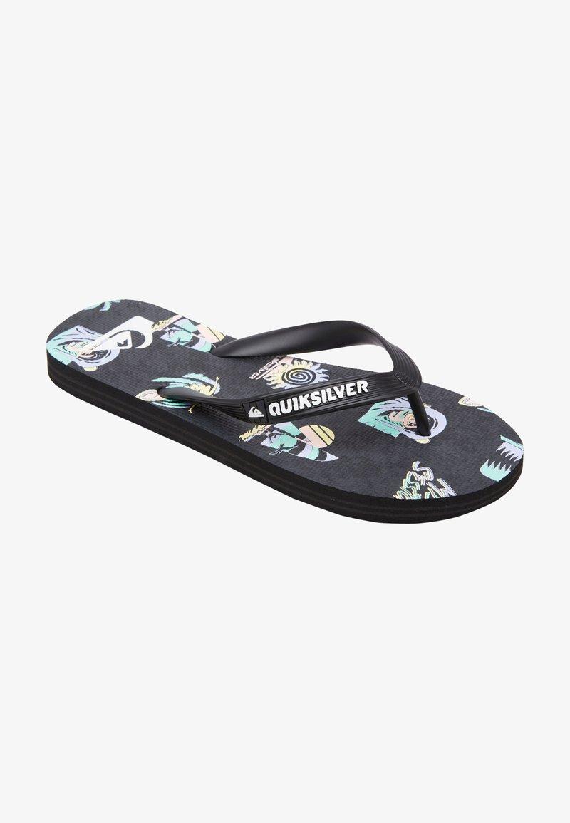 Quiksilver - T-bar sandals - black/grey/grey