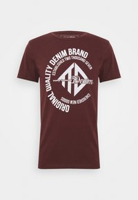 WITH COINPRINT - Print T-shirt - decadent bordeaux