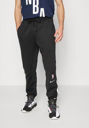 NBA BROOKLYN NETS SHOWTIME PANT - Article de supporter - black/dark steel grey/white