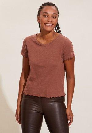 ELANIE - T-shirts basic - dark sand