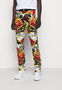 Versace Jeans Couture - TELO BELT PAISLEY LAV - Jeans slim fit - rosso - 0