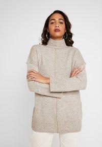 ONLY - ONLELAINA LONG - Stickad tröja - simply taupe melange - 0
