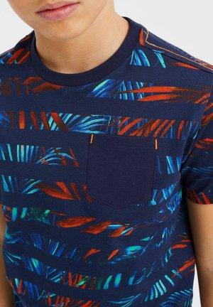 T-shirt con stampa - blue orange