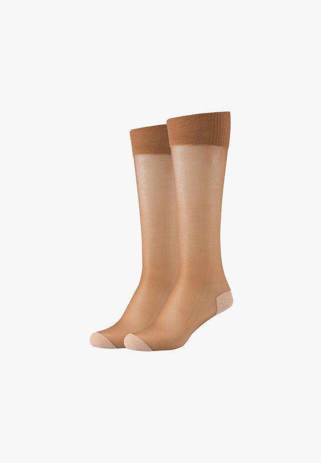 2 PACK - Socks - sun tan