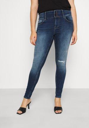 CARANNABEL LIFE - Jeans Skinny Fit - dark blue denim