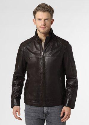 Leather jacket - schoko