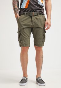 INDICODE JEANS - MONROE - Shorts - army - 0