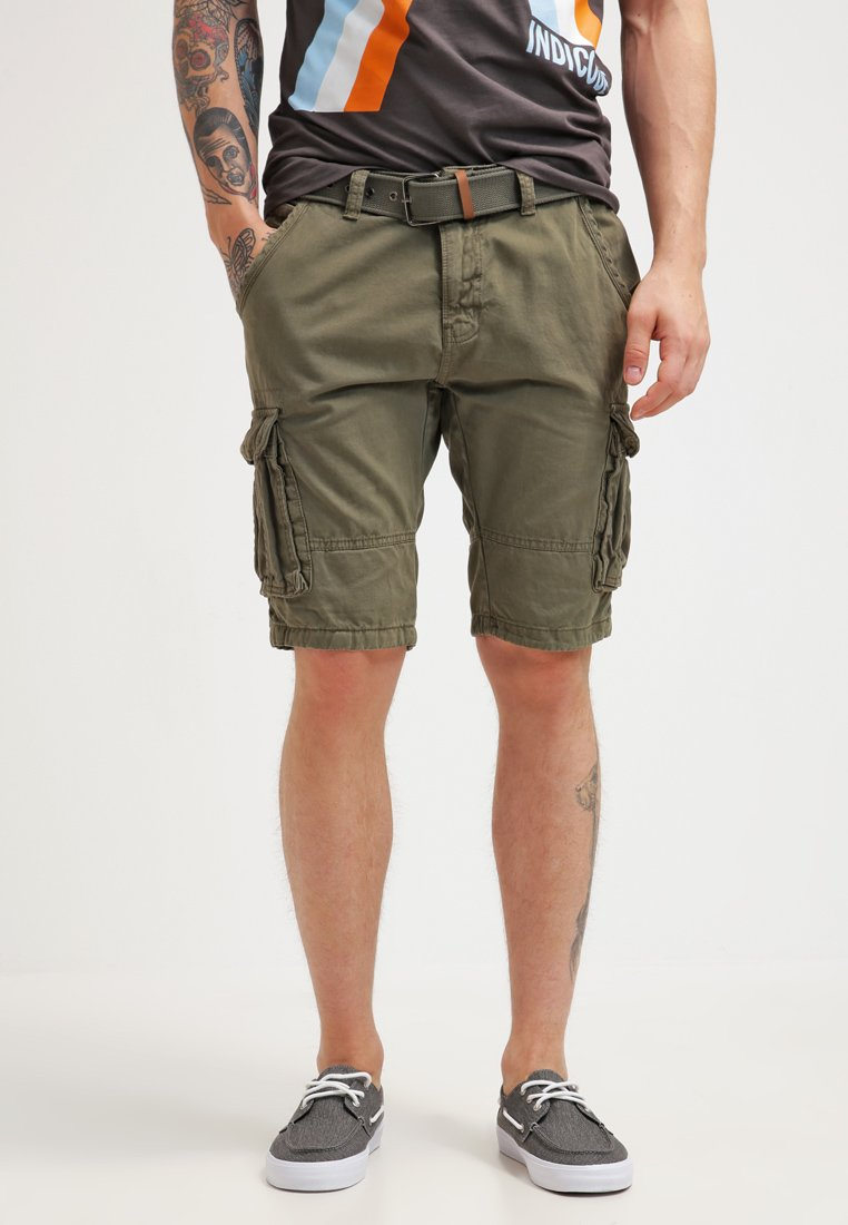 INDICODE JEANS - MONROE - Shorts - army