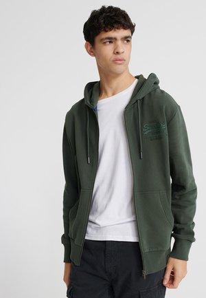 TONAL LOOPBACK - Zip-up hoodie - mid pine